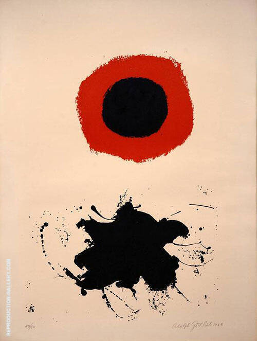 Red Halo White Ground l By Adolph Gottlieb