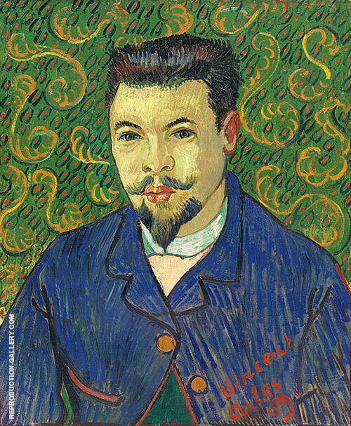 Portrait of Doctor Felix Re By Vincent van Gogh Replica Paintings on Canvas - Reproduction Gallery