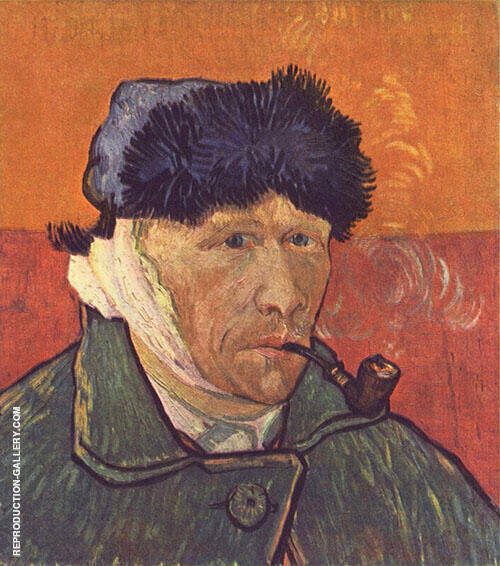 Self Portrait with Bandaged Ear and Pipe 1889 By Vincent van Gogh
