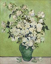 Still Life Pink Roses in a Vase 1890 By Vincent van Gogh