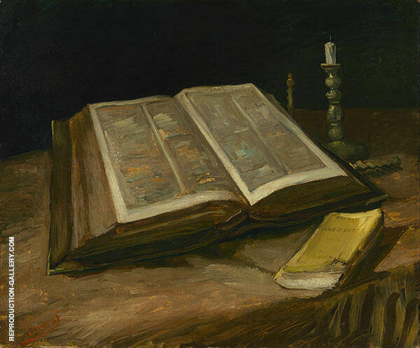 Still Life with Bible 1885 Painting By Vincent van Gogh