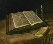 Still Life with Bible 1885 By Vincent van Gogh