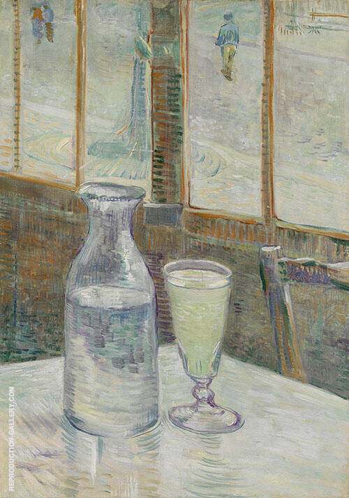 Still Life with Glass of Absinthe and a Carafe 1887 By Vincent van Gogh