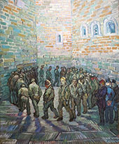 The Round of The Prisoners 1890 By Vincent van Gogh