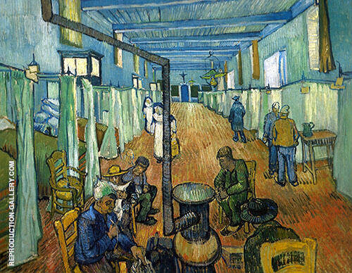 Ward in The Hospital in Arles 1889 By Vincent van Gogh