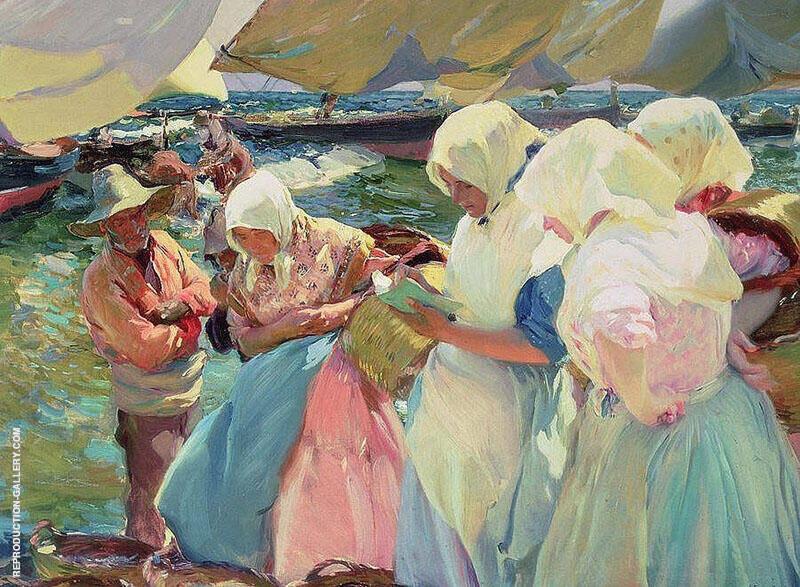 Fisherwomen on the Beach By Joaquin Sorolla