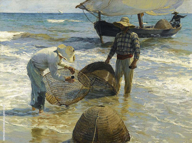 The Fishermen Valencia by Joaquin Sorolla | Oil Painting Reproduction Replica On Canvas - Reproduction Gallery