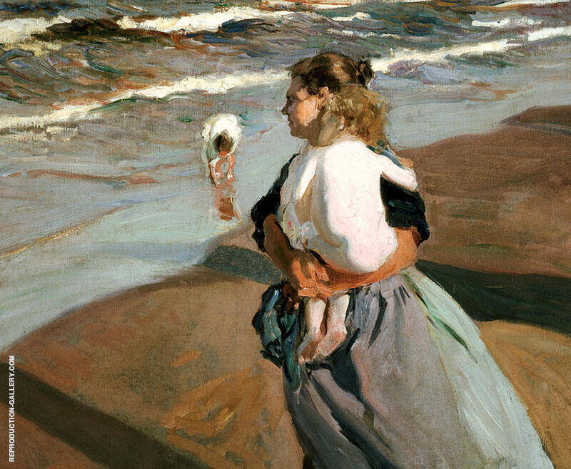 The Little Granddaugher by Joaquin Sorolla | Oil Painting Reproduction Replica On Canvas - Reproduction Gallery