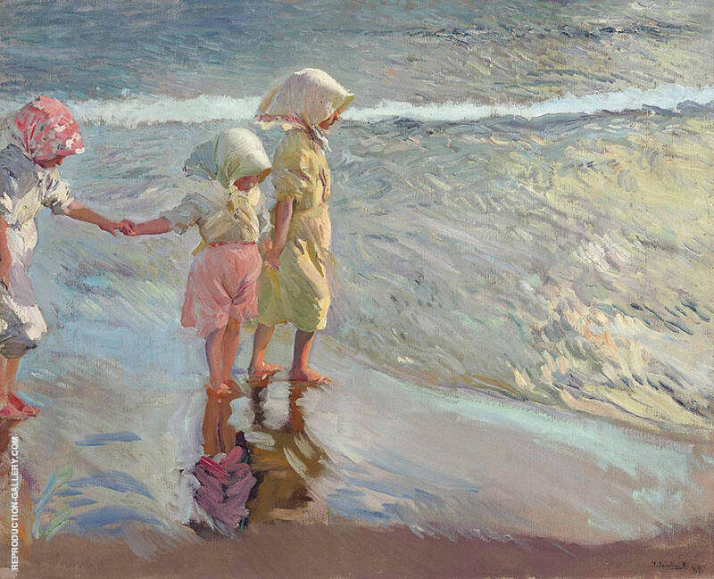 Three Sisters on the Beach By Joaquin Sorolla