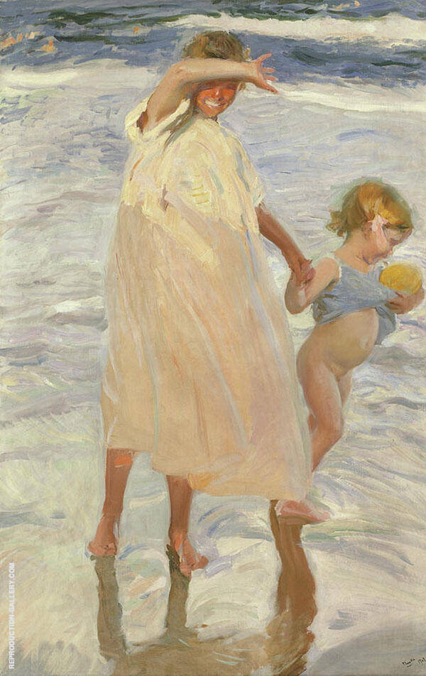Two Sisters Valencia By Joaquin Sorolla