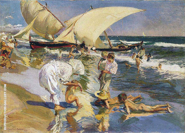 Valencia Beach in the Morning Light By Joaquin Sorolla