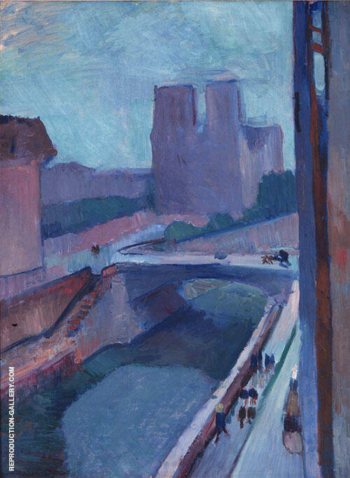 A Glimpse of Notre Dame in The Late Afternoon 1902 By Henri Matisse