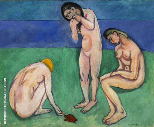Bathers with a Turtle 1908 By Henri Matisse