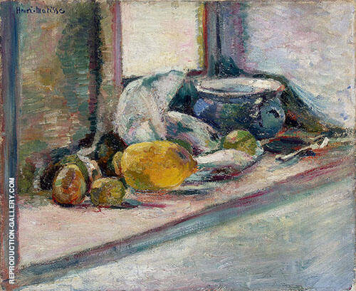 Blue Pot and Lemon 1897 Painting By Henri Matisse - Reproduction Gallery