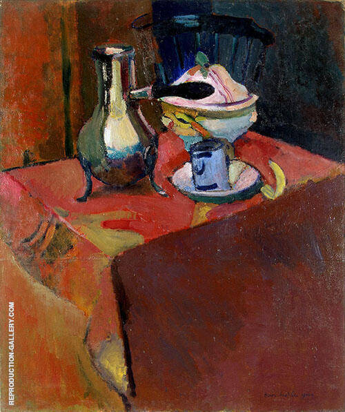 Crockery on a Table 1900 Painting By Henri Matisse - Reproduction Gallery