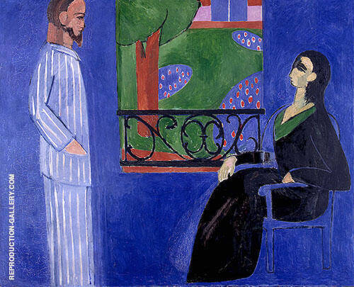 Conversation c1911 Painting By Henri Matisse - Reproduction Gallery