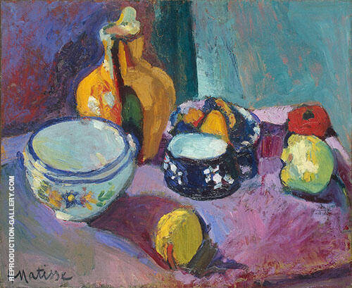 Dishes and Fruit 1901 By Henri Matisse
