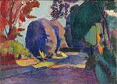 Luxembourg Gardens 1901 By Henri Matisse