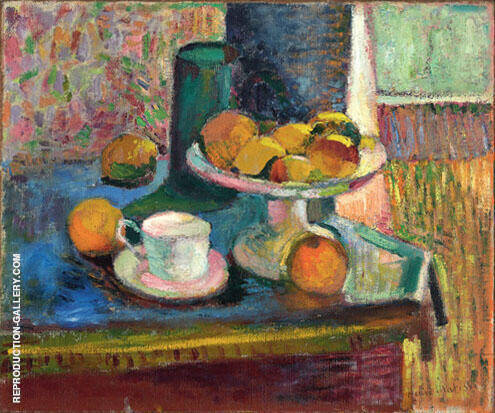 Still Life with Compote Apples and Oranges 1899 By Henri Matisse