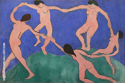 The Dance First Version 1909 Painting By Henri Matisse