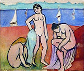 Three Bathers 1907 By Henri Matisse