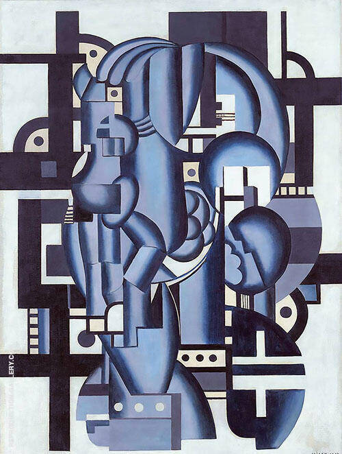Composition in Blue c1921 Painting By Fernand Leger - Reproduction Gallery