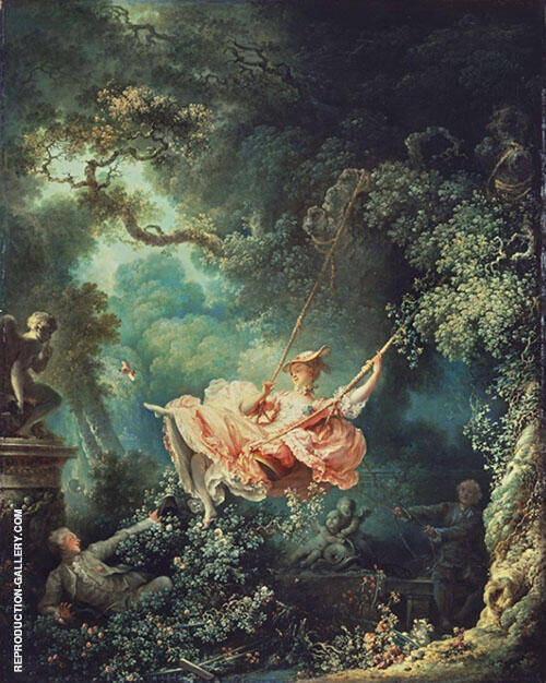 The Swing Painting By Jean Honore Fragonard - Reproduction Gallery