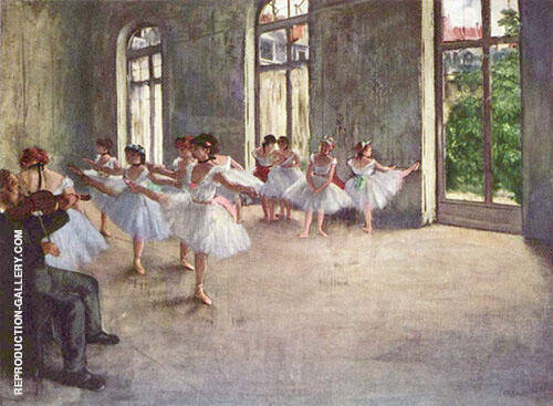 Ballet Rehearsal 1873 Painting By Edgar Degas - Reproduction Gallery