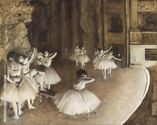 Ballet Rehearsal on Stage 1874 By Edgar Degas