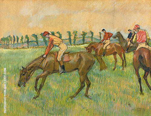 Before The Race c1883 By Edgar Degas