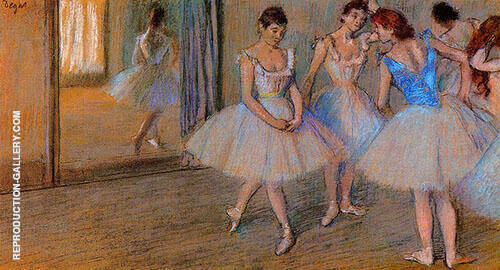 Dancers in a Studio c1884 By Edgar Degas