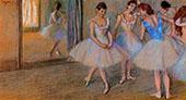 Dancers in a Studio c1884 By Edgar Degas