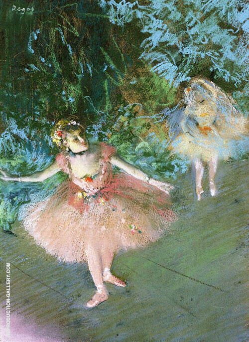 Dancers on Set c1880 By Edgar Degas Replica Paintings on Canvas - Reproduction Gallery