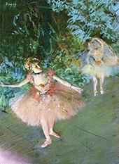 Dancers on Set c1880 By Edgar Degas