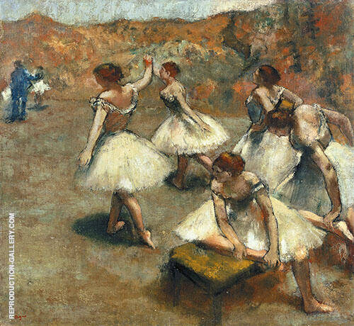 Reproduction of Dancers on The Stage c1899 by Edgar Degas | Oil Painting Replica On CanvasReproduction Gallery