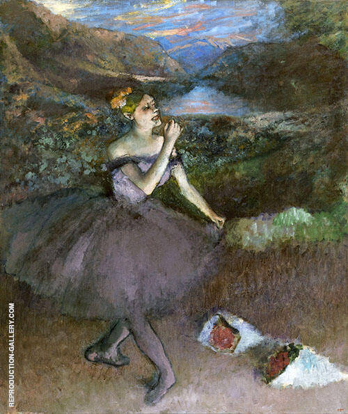 Dancer with Bouquets c1895 By Edgar Degas