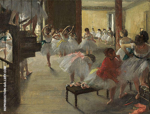 The Dance Class c1873 By Edgar Degas