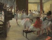 The Dance Class c1873 By Edgar Degas