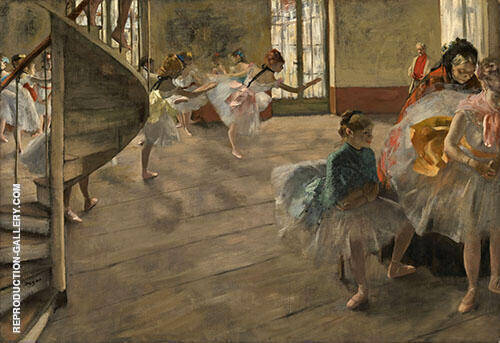 The Rehearsal c1874 By Edgar Degas