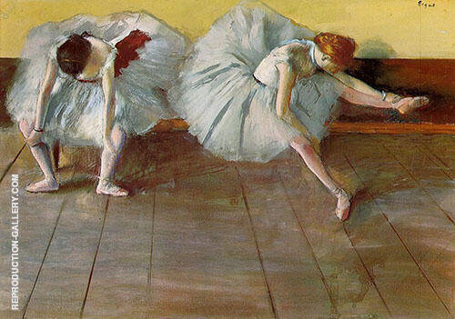 Two Ballet Dancers c1879 Painting By Edgar Degas - Reproduction Gallery