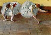 Two Ballet Dancers c1879 By Edgar Degas