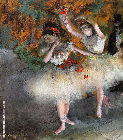 Two Dancers Entering The Stage c1878 By Edgar Degas