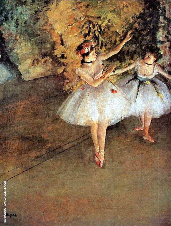 Two Dancers on a Stage 1879 By Edgar Degas Replica Paintings on Canvas - Reproduction Gallery