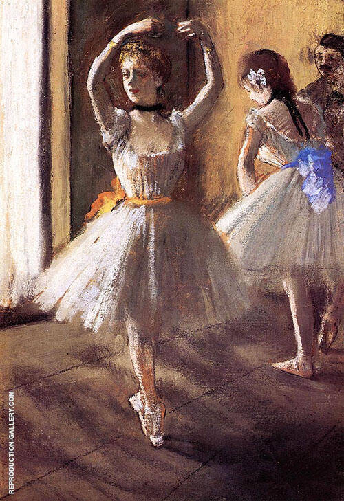 Two Dancers in The Studio c1875 By Edgar Degas