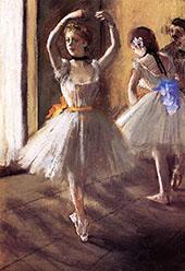Two Dancers in The Studio c1875 By Edgar Degas