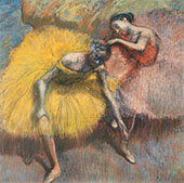 Two Dancers Yellow and Rose c1898 By Edgar Degas