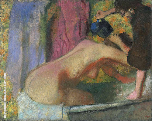 Woman at Her Bath c1895 Painting By Edgar Degas - Reproduction Gallery