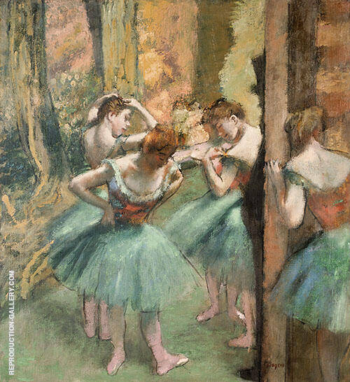 Dancers Pink and Green 1890 By Edgar Degas