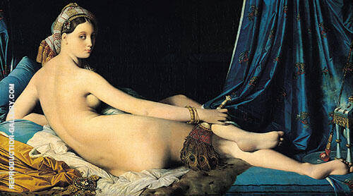 La Grande Odalisque 1814 Painting By Jean-Auguste-Dominique-Ingres