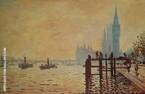The Thames at Westminster 1871 By Claude Monet